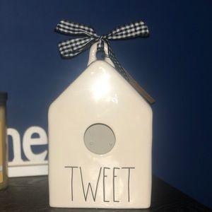 "Rae Dunn Accents - NWT RAE DUNN ""Tweet"" Birdhouse"